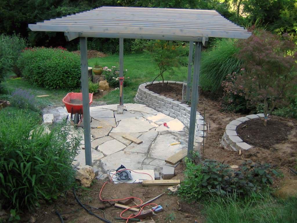 it u0027s not work it u0027s gardening the patio takes shape 2006