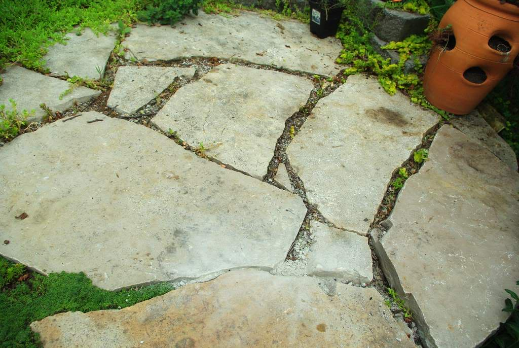 It S Not Work Gardening Filling Flagstone Patio